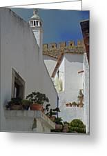 Obidos Portugal Walkway Greeting Card
