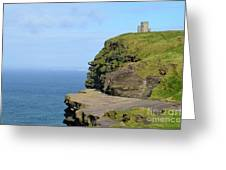 O'brien's Tower Along The Cliff's Of Moher In Ireland Greeting Card