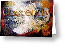 Obscenity Greeting Card