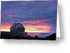 Observatory Sunset Greeting Card