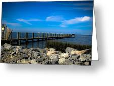 Obx Pier Greeting Card