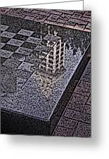 Occidental Park Checkerboard Greeting Card