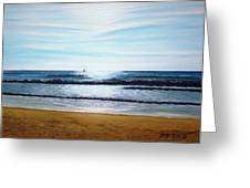 Ocean And Light Greeting Card