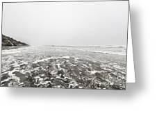 Ocean Beach In Tasmania Greeting Card