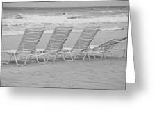Ocean Chairs Greeting Card