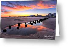 Ocean City Afterglow Greeting Card