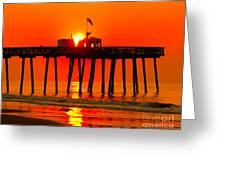 Ocean City Sunrise Greeting Card