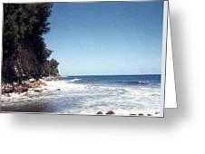 Ocean Cliffside Greeting Card