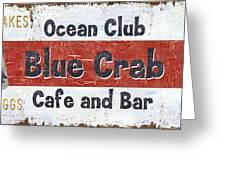 Ocean Club Cafe Greeting Card