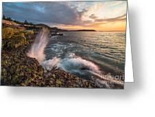 Ocean Drive Sunrise Greeting Card