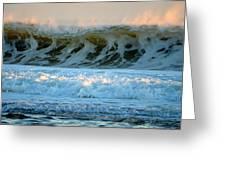 Ocean Energy At Sunrise Greeting Card