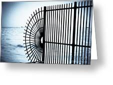 Ocean Fence Greeting Card