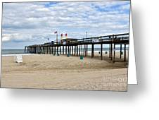 Ocean Fishing Pier Greeting Card
