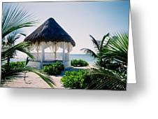 Ocean Gazebo Greeting Card