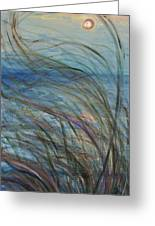 Ocean Grasses In The Wind Greeting Card