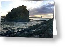 Ocean Headland Panorama Greeting Card