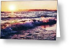 Ocean Landscape Sunrise Greeting Card