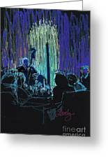 Ocean Lounge Jazz Night Greeting Card