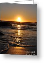 Ocean On Fire Greeting Card