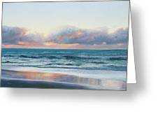 Ocean Painting - Days End Greeting Card