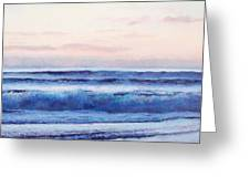 Ocean Painting 'dusk' By Jan Matson Greeting Card