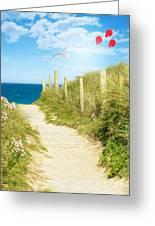 Ocean Path In Cornwall Greeting Card