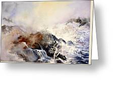 Ocean Rage Greeting Card