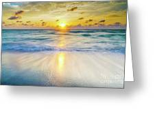 Ocean Reflections At Sunrise Greeting Card