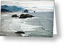 Ocean Rocks Off The Oregon Coast Greeting Card