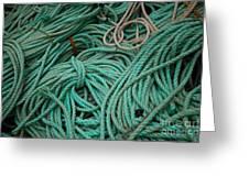 Ocean Ropes Greeting Card
