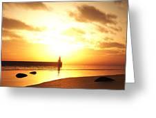 Ocean Side Sunset Greeting Card