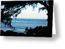Ocean Silhouette Greeting Card