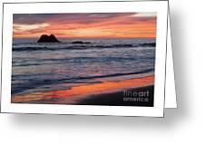 Ocean Sky Awash In Color Greeting Card