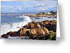 Ocean Spray In Monterey Greeting Card