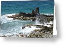 Ocean Spray Mid-air Greeting Card