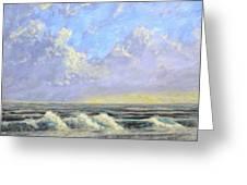 Ocean Storm Sunrise Greeting Card
