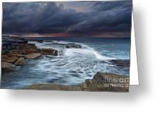 Ocean Stormfront Maroubra Greeting Card