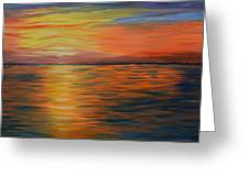Ocean Sunrise- Oil Painting- Abstract Art Greeting Card