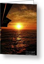 Ocean Sunset Greeting Card