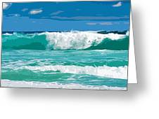 Ocean Surf Illustration Greeting Card by Phill Petrovic