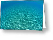 Ocean Surface Reflections Greeting Card