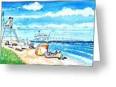 Ocean View Beach Greeting Card