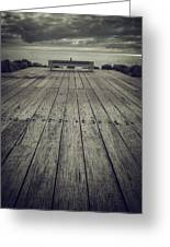 Ocean View Bench Greeting Card