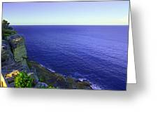 Ocean View From North Head Greeting Card