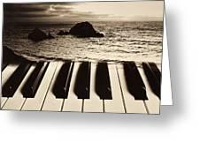 Ocean Washing Over Keyboard Greeting Card by Garry Gay