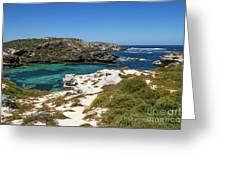 Ocean Water And Rocks Greeting Card