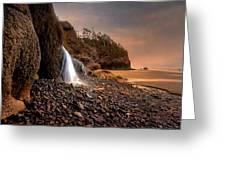 Ocean Waterfall Greeting Card