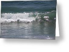 Ocean Wave On The Pacific In Huntington Beach Greeting Card