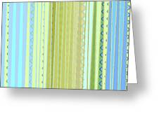 Oceana Stripes Greeting Card by Gina Harrison