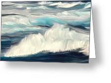 Oceans Blue Greeting Card by Mark Taylor
